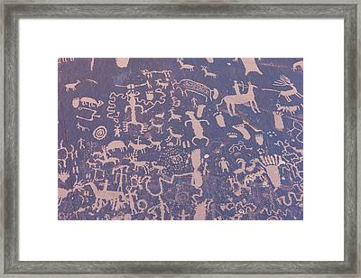 Ancient Carvings Framed Print