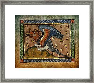 Ancient Celtic Art Dragon Framed Print by Terry Fleckney
