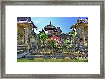 Ancient City Of Bali - Penglipuran Framed Print by Kevin Oconnell