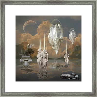 Framed Print featuring the digital art Ancient Civilization by Alexa Szlavics