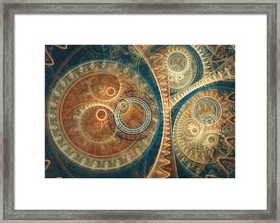 Ancient Clockwork Framed Print