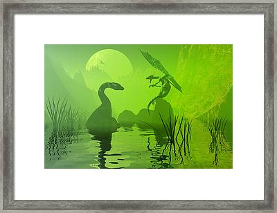 Ancient Confrontation Framed Print