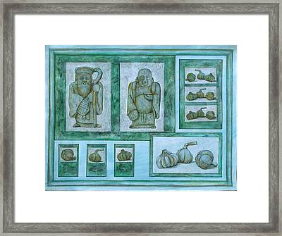 Ancient Cures Framed Print by Sandy Clift