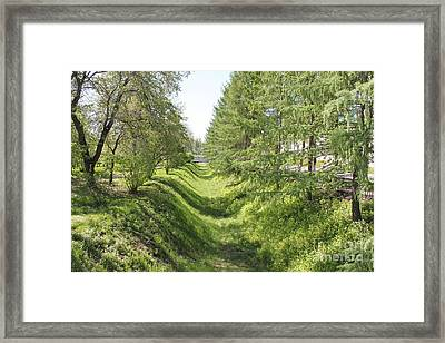 Ancient Ditch Framed Print by Evgeny Pisarev
