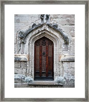 Ancient Door Framed Print by Douglas Barnett