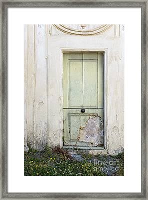 Ancient Door Rome Italy Framed Print by Edward Fielding