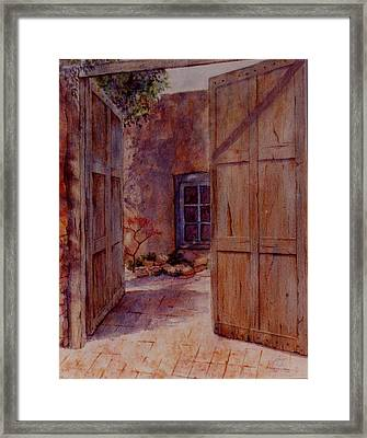 Ancient Doors Framed Print