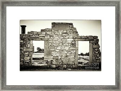 Ancient Doorway Framed Print by John Rizzuto