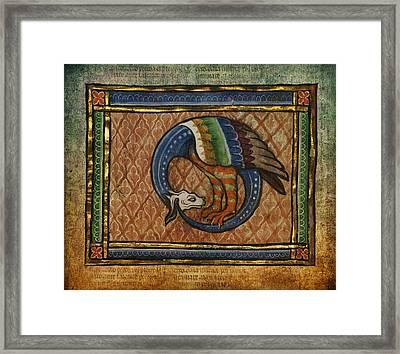 Ancient Dragon Celtic Art Framed Print by Terry Fleckney