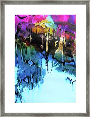 Framed Print featuring the painting Ancient Echoes by Mary Sullivan