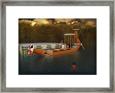 Ancient Egypt Leisure Boat Framed Print