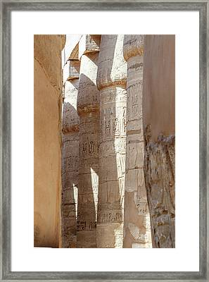 Framed Print featuring the photograph Ancient Egypt by Silvia Bruno