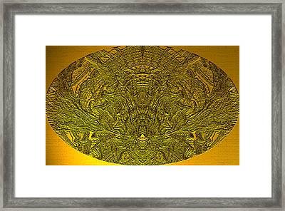 Ancient Egyptian Hieroglyphics Framed Print by Wayne Bonney