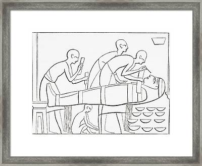 Ancient Egyptians Painting Framed Print by Vintage Design Pics