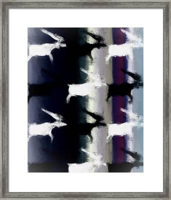 Ancient Elk Framed Print by Tommytechno Sweden