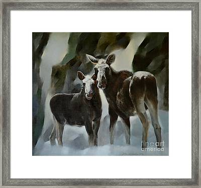Ancient Elks Framed Print by Jukka Nopsanen