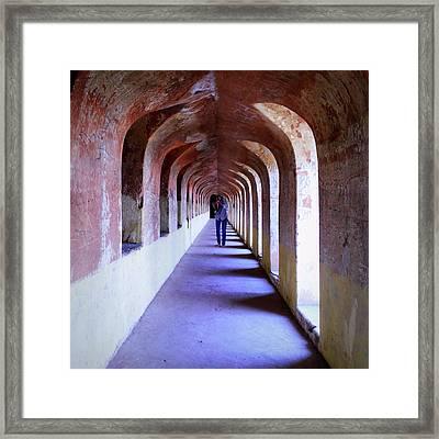 Ancient Gallery At Bada Imambara Framed Print