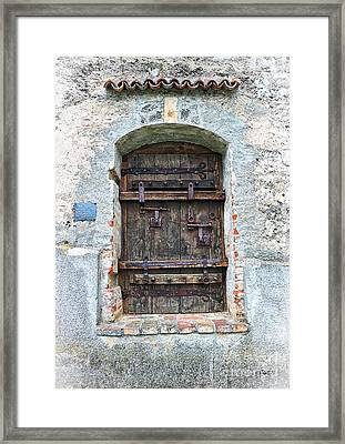 Ancient Gothic Door Framed Print