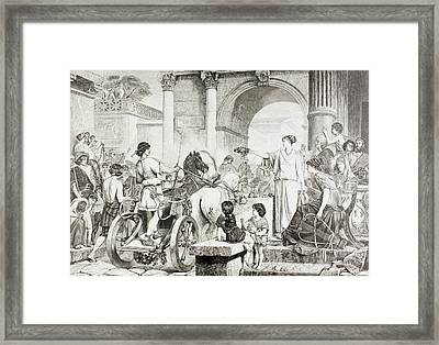 Ancient Greek Olympic Games. The Winner Framed Print by Vintage Design Pics