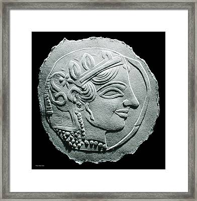 Ancient Greek Relief Seal Drawing Framed Print