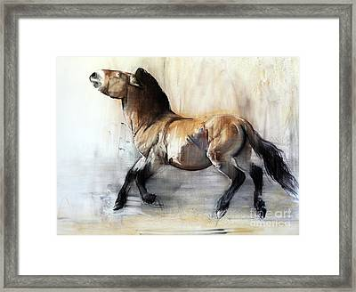 Ancient Horse Przewalski In Winter Framed Print