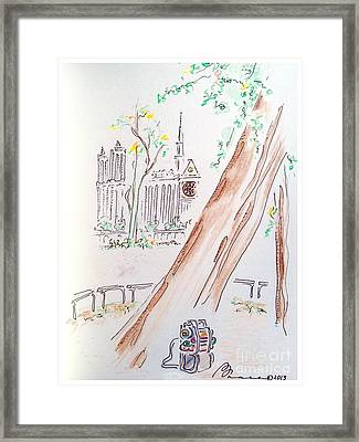 Ancient Leaning Tree Framed Print by Barbara Chase