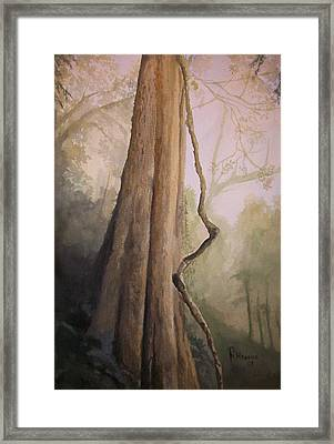 Framed Print featuring the painting Ancient Life by Rachel Hames