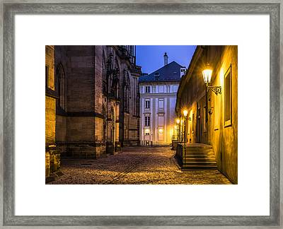 Ancient-like Dawn At Prague Castle Framed Print by Marek Boguszak