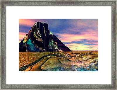 Ancient Memory Sunset On America Framed Print by Rebecca Phillips