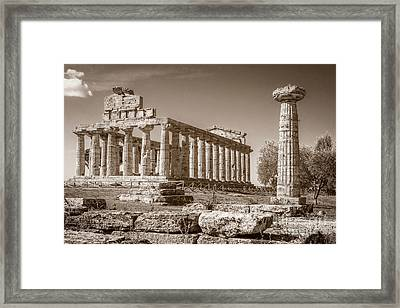 Ancient Paestum Architecture Framed Print