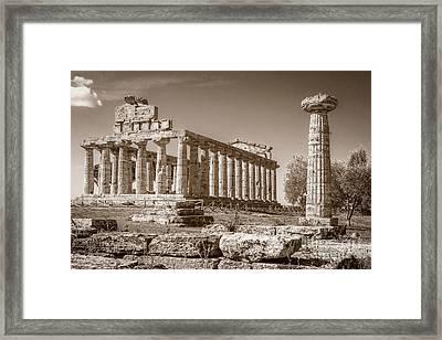 Ancient Paestum Architecture Framed Print