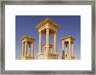 Ancient Palmyra Framed Print by Roman School