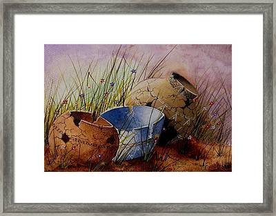 Ancient Relics A Paint Along With Jerry Yarnell' Study. Framed Print