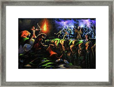 Ancient Rescue Framed Print by Chris Bahn