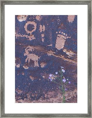 Ancient Rock Art Framed Print