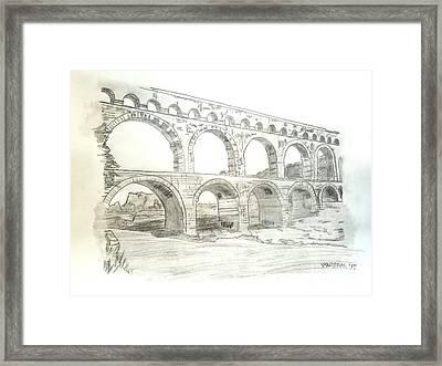 Ancient Roman Aqueducts Framed Print