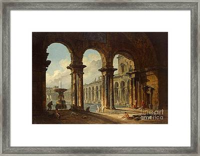 Ancient Ruins Used As Public Baths Framed Print by MotionAge Designs