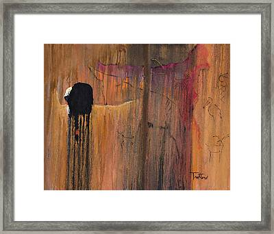 Ancient Scripture Framed Print by Patrick Trotter