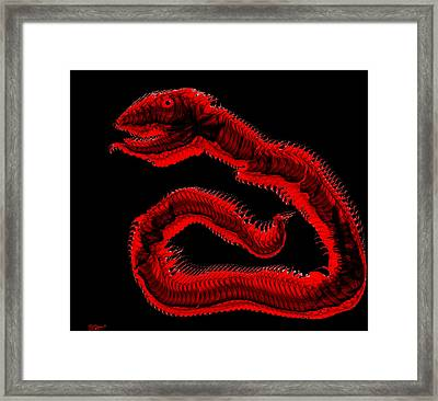 Ancient Serpent Symbol Framed Print by Abstract Angel Artist Stephen K