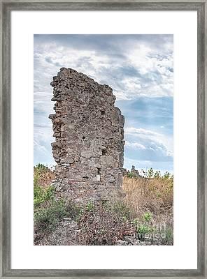 Ancient Shop Ruins In Side Framed Print