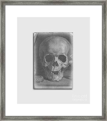 Ancient Skull Tee Framed Print