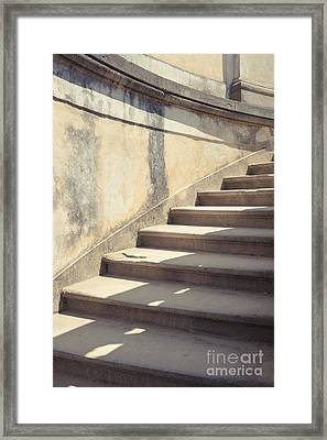 Ancient Stairs Framed Print by Edward Fielding