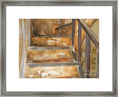 Ancient Stairway Framed Print