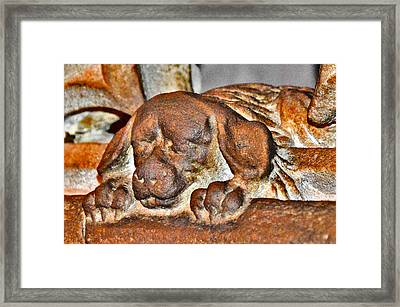 Ancient Story. Make A Wish. Touch The Spout. Framed Print by Andy Za