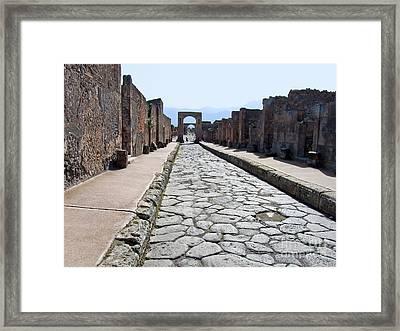 Ancient Street Framed Print by Lutz Baar