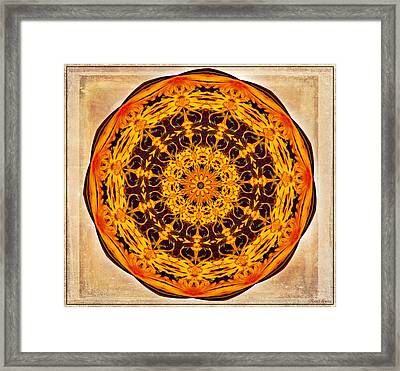 Ancient Sun Kaleidoscope Framed Print