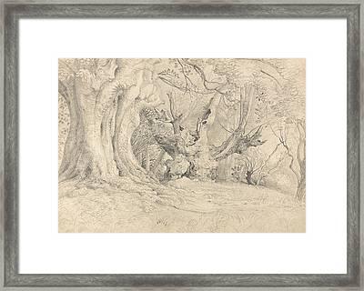 Ancient Trees, Lullingstone Park Framed Print by Samuel Palmer