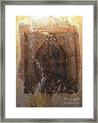 Ancient Virgin Of Guadalupe - Ex-convento Yuriria Framed Print by Mexicolors Art Photography