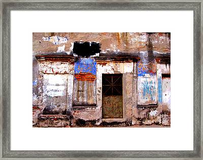 Ancient Wall 1 By Darian Day Framed Print