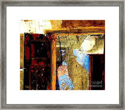 Ancient Wall 3 By Michael Fitzpatrick Framed Print by Mexicolors Art Photography